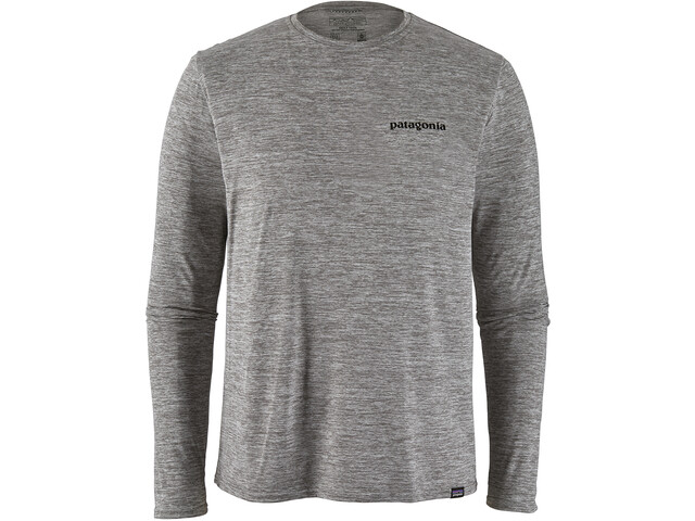 Patagonia Cap Cool Daily Graphic LS Shirt Herr p-6 logo/feather grey